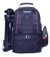 Dickko slr nylon camera bag laptop bag multifunctional double-shoulder camera bag