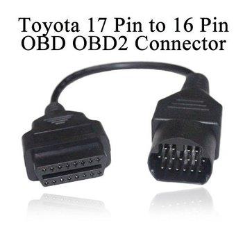 Toyota 17 Pin to 16 Pin OBD OBD2 Connector diagnostic cable