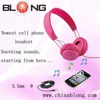 2013 fashionable & colorful flat cable earphones