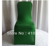 Wholesale Price Deep Green Spandex Chair Cover Used For Wedding
