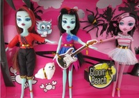 Free shipping ,monster high dolls /fashion dolls /children's toys gift/5set=25pcs