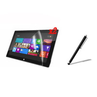 New 2x  Clear Screen Protector Film Guards +Stylus Pen For For Microsoft Win8 Windows 8 Tablet Surface RT 10.6' +Free shipping