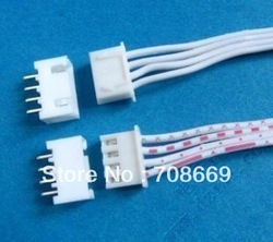 100 pcs 4 Pin Connector leads Heade 2.54 mm L: 200mm(China (Mainland))
