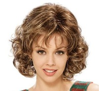 Fashion stylish synthetic wigs/ short curly women's wigs