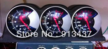 combination meter set rpm+water temp+oil press+black  tripple pod