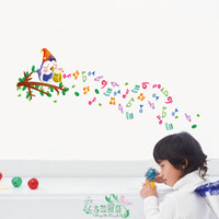 Free shipping  Owl child real music wall stickers wall stickers45*60cm