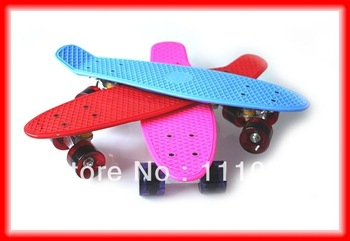 12pcs/lot Free shipping high quality penny plastic skateboard for christmas kids gift