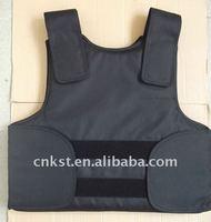 FREE SHIPPING Large Size Black Color Conceal Bulletproof Vest NIJ IIIA Body Amor