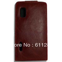 Free Shipping, Flip Leather Case Purse For LG L5 E610 E612 Red