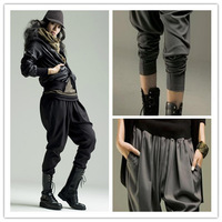 Fashion Plus Size Women Harem Pants Black,Gray Specail Design Elastic Baggy Pants