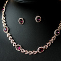 Promotion, Free shipping/Wholesale/High qualityNew Austria red crystal gold plated jewelry set