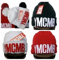 hot sell!! top quality YMCMB beanies with tags winter pom skullies, Acrylic materail  beanie 15 pcs/lot  mixed order  caps/hats