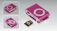 Carl offer DHL free shiping - wholesale mini mp3 player+2GB memory card+usb line+charger+ earphone  hotsale now