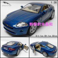 Soft world jaguar roadster xk coupe alloy artificial car model toy car blue