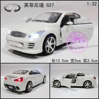 Artificial car model toy car acoustooptical WARRIOR infiniti g37