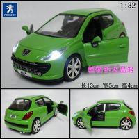 Plain pulchritudinous 207 green alloy car models toy alloy car models