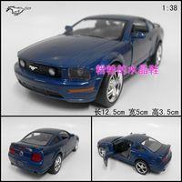 Soft world alloy WARRIOR car model toy car FORD gt blue