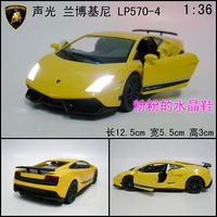 New arrival alloy car model toy lamborghini lp570-4 acoustooptical double door