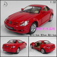 Soft world artificial car model toy alloy WARRIOR car slk 350 red