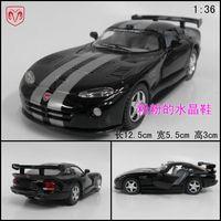Soft world artificial car model toy WARRIOR alloy lundberg dodge black