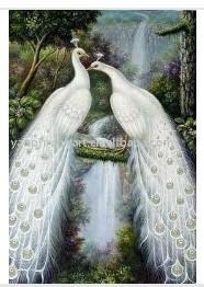 Presente animal do pavão da pintura a óleo