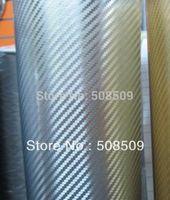 1.52*30m chrome vinyl 3d carbon fiber film car wrap gorgeous car stickers with high quality