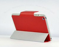 For iPad Mini 20pc/Lot DHL Free Newest Nice and Fashion Lichee Pattern Smart Cover With Magnetic Buckle Case