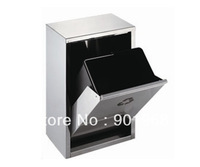 Stainless steel wall mounted compartment waste bin-8L