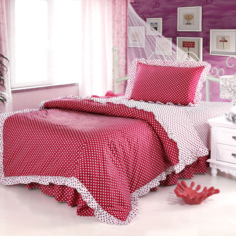 2012 bedding piece set 100% cotton single bed sheet duvet cover child princess bedding(China (Mainland))
