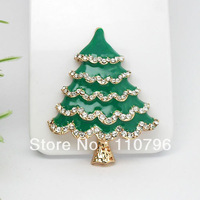 6pcs/lot New Christmas tree green Fashion Golden Alloy Accessory mobile phone accessories DIY Free shipping