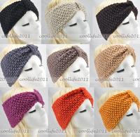 5 pcs/Lot wholesale free shipping Winter women Knit Hairband Crochet warmer Head wrap Headband Ear Warmer Gift