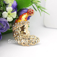6pcs/lot Christmas Moon personalized mobile beauty decorative DIY stick diamond accessories wholesale Free shipping