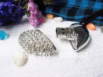 Retail 2GB 4GB 8GB 16GB Heard jewelry usb flash drive with gift box+Free shipping + dropping shipping