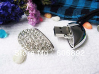 Retail 2GB 4GB 8GB 16GB Heard jewelry usb flash drive with gift box+Free shipping + dropping shipping