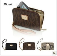 Wholesale - High quality original Michael- wallet Real leather case for  5G  4G 4S free shipping 10pcs/lot