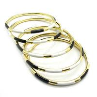 Whole Price Womens Alloy Steel Golden White Black Fashion Gorgeous Bracelet New Arrival