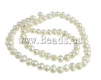 Wholesale 70Pcs/Lot White Natural Potato Cultured Freshwater Pearl Beads, B grade,5mm, Hole:0.8mm Free Shipping Jewelry findings