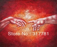 High Quality! 100% hand-painted art canvas Touch of God Oil Painting on Canvas Hand Made Replica Finest Quality