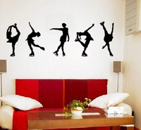 Free shipping!  [Wholesale and retail] FIGURE SKATING - Wall Decals Stickers Murals kids girl r-175