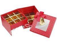 Wholesale  chocolate box / gift box / Candy Box/Bilayer   logo 12-12-8cm