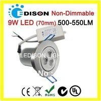 Non-Dimmable 3x3W recessed down light 9W CE RoHS SAA certificates 3 years warranty