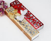 Wholesale  Chocolate box 25.5-5.5-3.7cm/gift box /packaging box / Candy Box logo