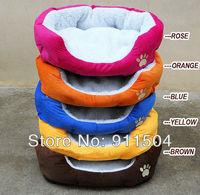 5 Color New Fleece Pet Dog Cat Bed House with Soft Mat SIZE M,L