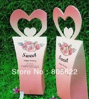 hot sell individual MOQ 300pcs in high quality excellent paper customized wedding favour gift box