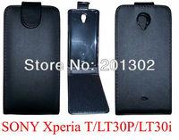 Чехол для для мобильных телефонов Black PU Leather Case Pouch For Sony Xperia J ST26i, +10pcs