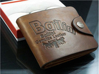Mini Order $15 Free Shipping Men Purse  Men Wallet  100% Cow Genunine Leather Factory Price