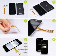 2012 new style and cheapest price dual sim card adapter for Samsung iphone 4 4S