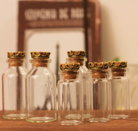 Zakka cork bottle glass jar wishing bottle corked big Small photography props novelty items