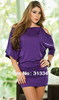 Purple/Black 2 Colors With Chain Fashion Classic Sexy Dress Women Clothing Party Wear Lady Mini Skirt Clubwear Free Shipping M69