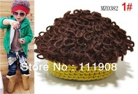 HOT SELLING new arrival kids wig cap,afro cap kids hat,woolen yarn children modeling cap as Christmas gift.